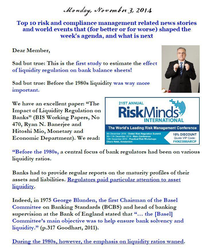 Newsletter, November 3, 2014