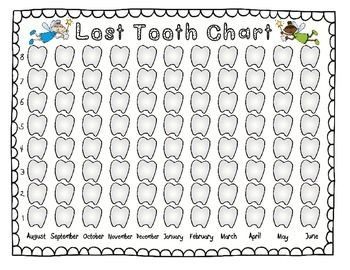 Back to School! This is a great lost tooth chart to keep track of all of the teeth that our students lose throughout the entire school year.
