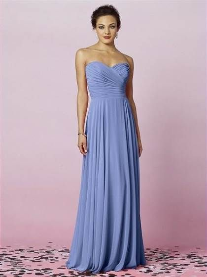 Modest Periwinkle Bridesmaid Dresses