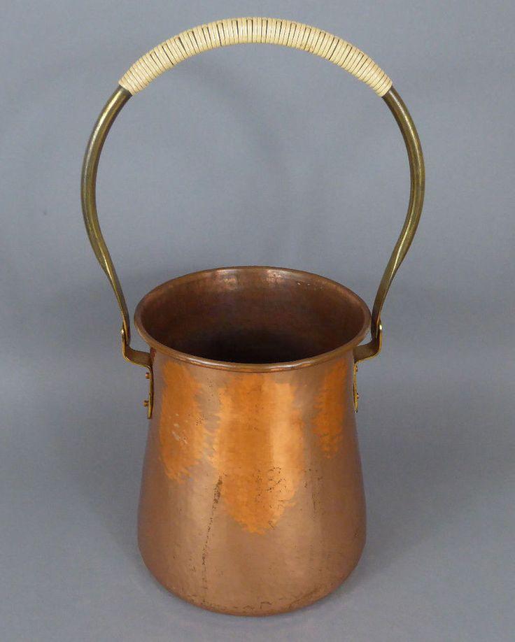 Sektkühler Kupfer 60er Eugen Zint Champagne Cooler Copper 60s Bauhaus Design