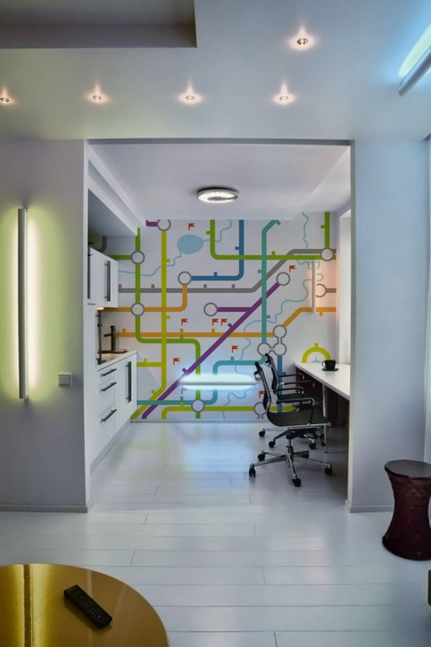 London Tube   Simple Colorfoul Lines For Wall Decorations In Modern  Interiors | InspireFirst