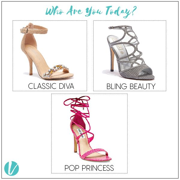Who are you today? Be who you want to be with these Styles from Vilara. Shop by Product Code - (Beige Sandals : 258912, Silver Sandals : 258911, Pink Sandals : 147867) #sandals #heels #stilettoes #whoareyoutoday #yourstyle #highheels #shoes #premium #vilara