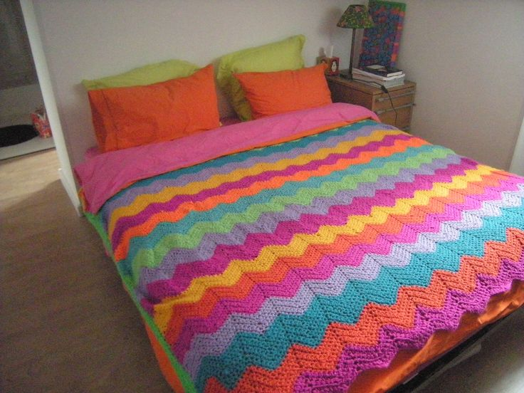 Claudia crochetted this blanket -- in garret apartment in Menton, France