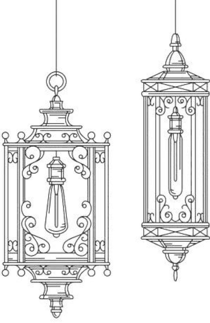 Картинки для раскрашивания фонарь