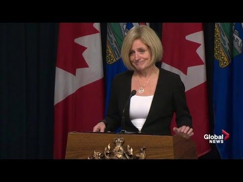 "Premier Rachel Notley delivers a ""State of the Province"" address in Calgary on Wednesday, October 19."