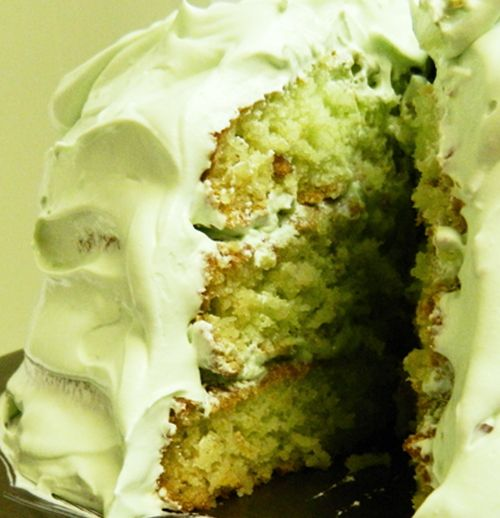 PISTACHIO PUDDING CAKE!! This was my *favorite* kind of cake when I was little, but I haven't had it in over 10 years! I don't know if I can hold myself back from making it tomorrow... yum, yum, YUM!