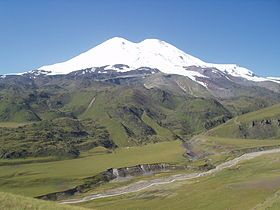 Mount Elbrus, the highest point in Europe.  Not the prettiest mountain but I hope to be on top in mid August with a great group of Veterans.