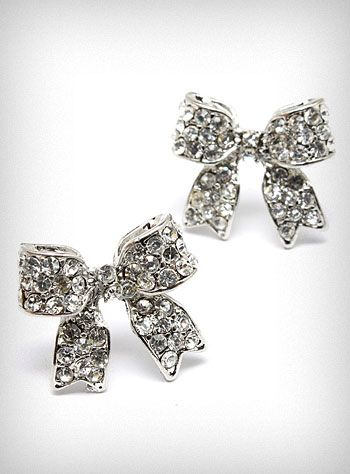 Love bows: Bows Accessories, Diamonds Earrings, Bows Ties, Cute Earrings, Bows Rings, Studs Earrings, Bows Ears, Diamonds Bows, Bows Earrings Studs