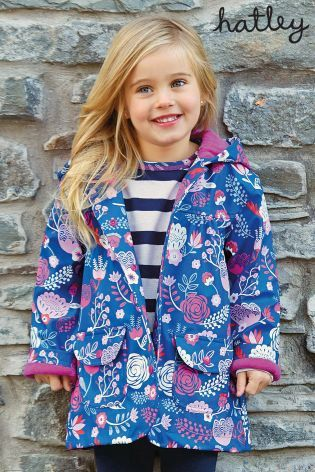 Buy Hatley Navy Flowers Raincoat (2-8yrs) online today at Next: United States of America