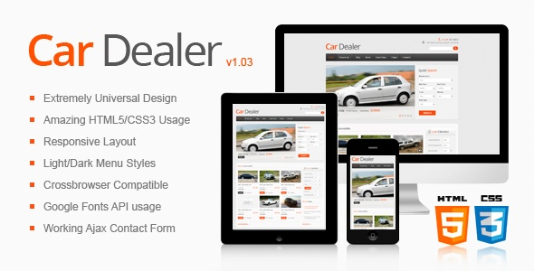 Car Dealer Responsive HTML5/CSS3 Template