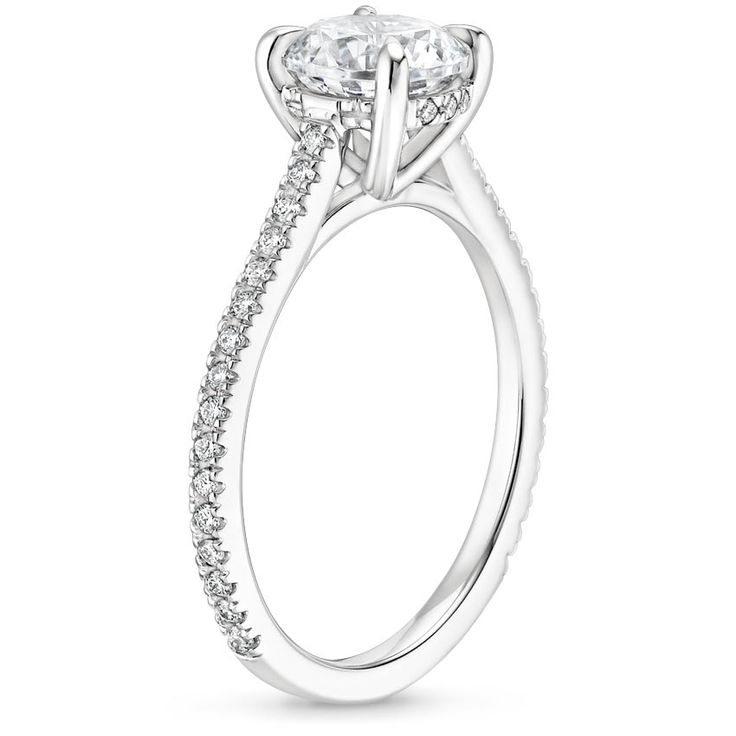 Radiant Cut Luxe Lissome Diamond Engagement Ring – 18K White Gold (Setting Price)