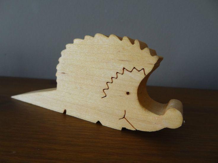 Wooden Hedgehog Door Wedge / doorstop | eBay