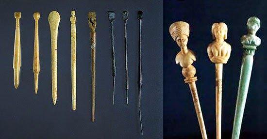Romano Impero: ACCONCIATURE ROMANE spilloni per capelli