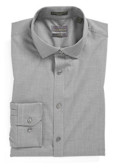 Extra Trim Fit Non-Iron Microcheck Dress Shirt