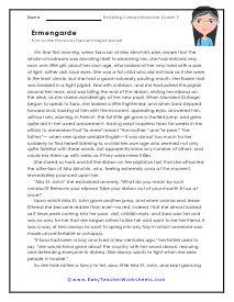 Grade 7 Reading Comprehension Worksheets | Comprehension ...