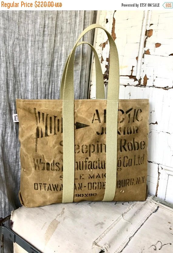 LABOUR DAY SALE Woods - reconstructed vintage duffle tote bag by yahbag on Etsy https://www.etsy.com/ca/listing/530616828/labour-day-sale-woods-reconstructed