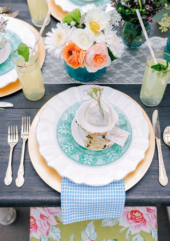 Spring tea party ideas   100 Layer Cake
