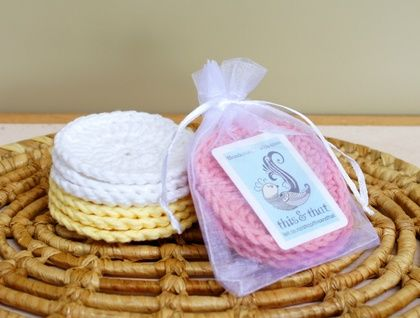 Pack of 3 Eco Friendly Cleansing Pads Gift Set (Crochet Rounds / Facial Scrubbies)