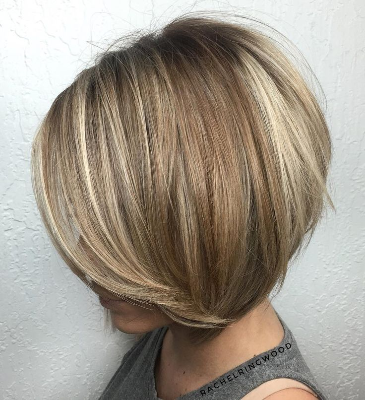 Image result for Stacked Bob with Highlights