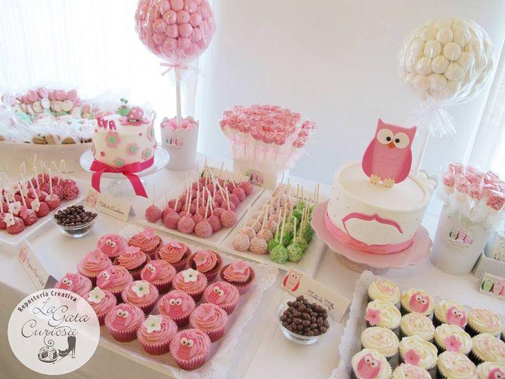 Mesa de dulces Buho