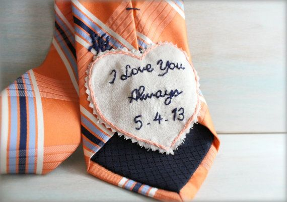 Groom Gift. Groom Gift from Bride. Embroidered by sewhappygirls, $35.00
