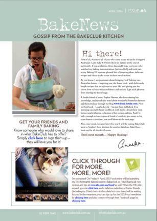 BakeNews - BakeClub's Monthly Newsletter
