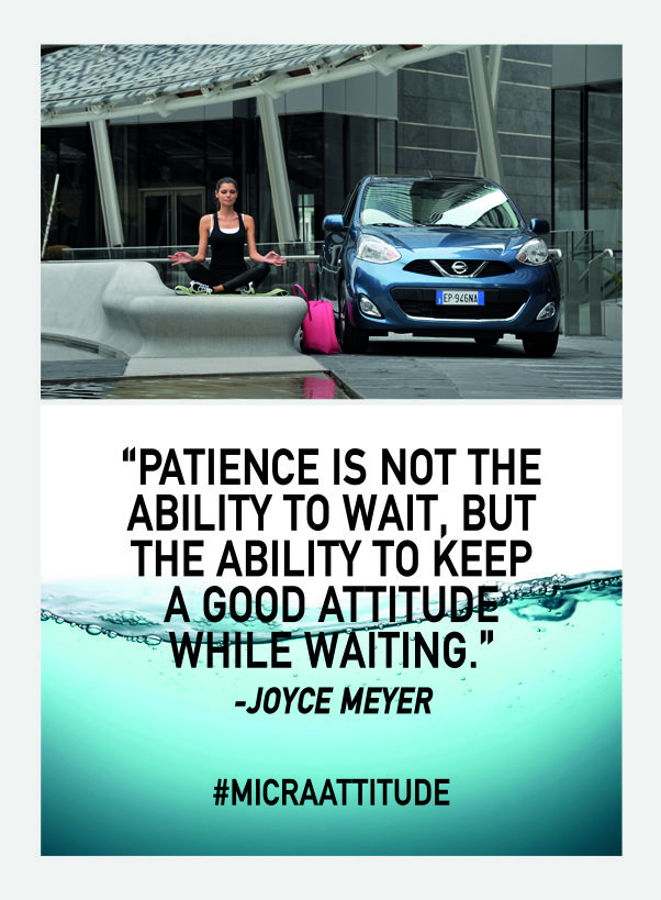 Keeping the positive outlook is important for sanity. #MicraAttitude #Competition #Contest #Nissan #Micra #Car #Lifestyle #Woman #Women #Attitude #Quote #Caption #Zen #Patience #Style #Confidence #Intelligence #Design #Technology