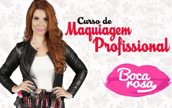 #Curso de #Maquiagem Profissional Online Boca Rosa
