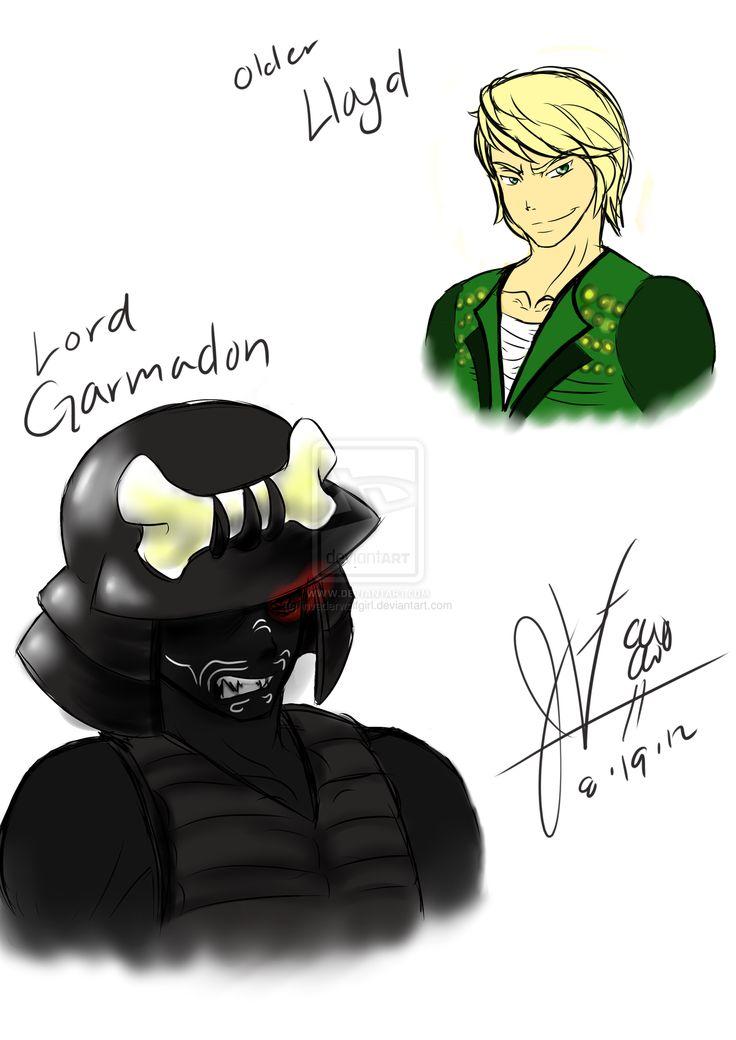 ninjago artwork | Ninjago: Lloyd and Lord Garmadon by ~invaderwolfgirl on deviantART