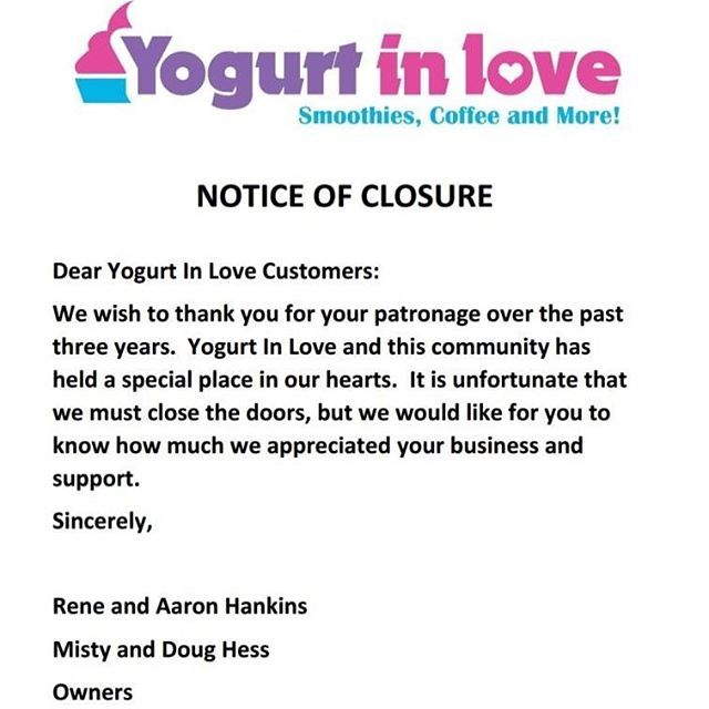 Notice Of Closure Thank You To All Of Our Patrons And Customers We Have Appreciated Your Business And Support More Than Words More Than Words Words Sayings