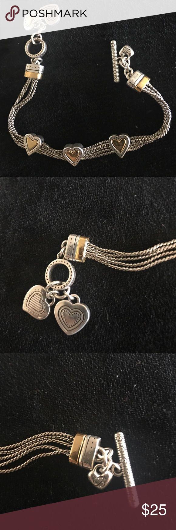 Brighton silver and gold heart bracelet Brighton silver and gold heart bracelet Brighton Jewelry Bracelets