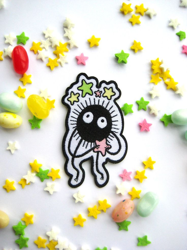 Studio Ghibli Soot Sprite Iron on Patch by HannahHitchman on Etsy https://www.etsy.com/listing/496227616/studio-ghibli-soot-sprite-iron-on-patch