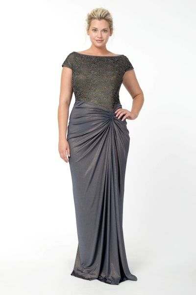more Plus Size Bridesmaid Gowns with sleeves