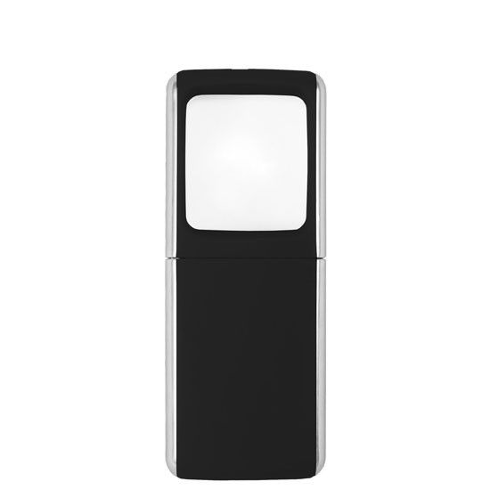Pocket magnifier with 3x magnification and LED light...perfect for menus, maps and other fine print. It is lightweight and has a shatterproof acrylic lens.
