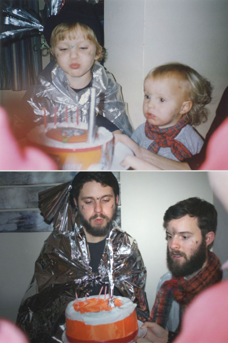 Two brothers hilariously re create their childhood photos as a gift for their mother