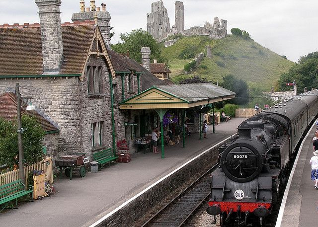 Swanage Railway,Corfe Castle, Dorset, England by GrossoMatto, via Flickr