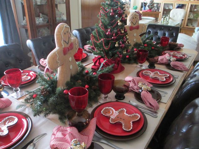 in <3 .... gingerbread table scape