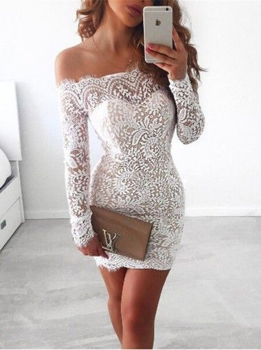 de30bd3bd96 Contact Us  fairyqueen7 hotmail.com Description for this Sheath  Off-the-Shoulder Long Sleeves Short Ivory Lace Homecoming Dress. .  1.Material Lace 2.