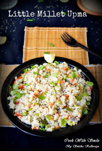 LITTLE MILLET UPMA / SAMAI UPMA - MILLET RECIPES ~ Cook With Smile
