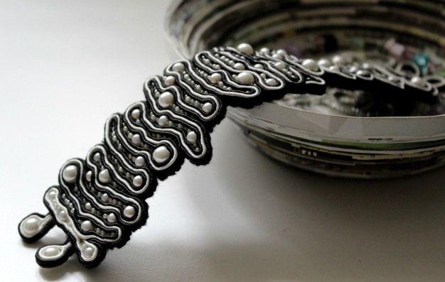 monochrome soutache bracelet