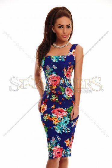 Fofy Colorful Fantasy DarkBlue Dress