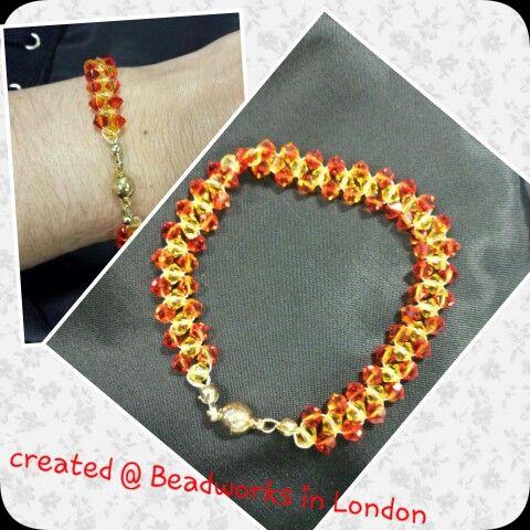 Peyote Stitch bracelet course run by Roma @ www.beadworks.co.uk created by Anna-Marie