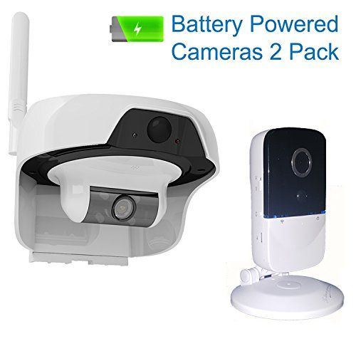 Solo Solar Powered Outdoor Water Resistant Wireless Smart P2P WIFI IP High Definition Video Surveillance Camera with PIR Motion Detection Sensor Outdoor Indoor Cameras 2Pack -- Visit the image link more details.