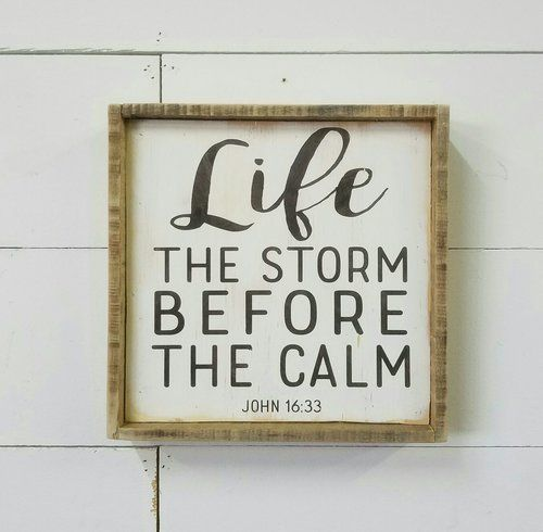 LIFE THE STORM BEFORE THE CALM // John 16:33