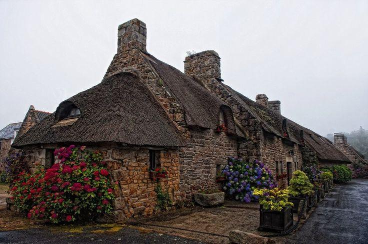 Chaumières bretonnes, Bretagne