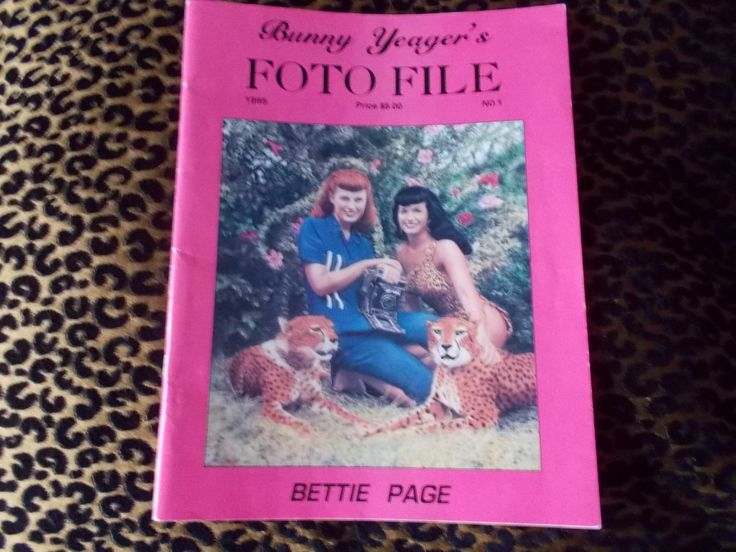 Bunny Yaeger's Foto File 1995 Vintage Bettie Page Photo Book by VintageLunchBox on Etsy