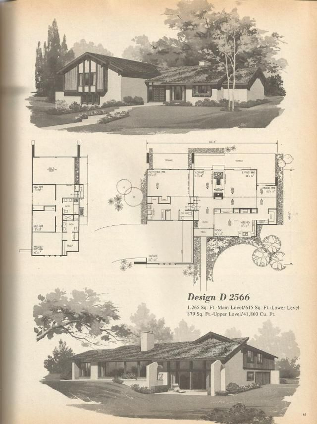 271 best vintage floorplans images on pinterest home for Vintage floor plans