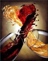 Wine painting for the house