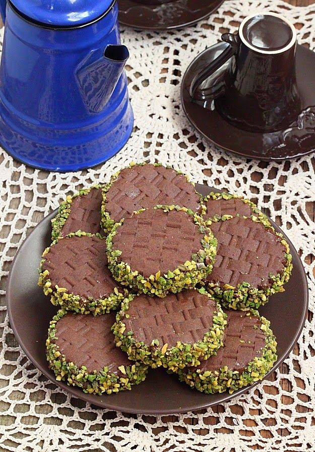 Délices d'Orient: Biscuit cacao pistache