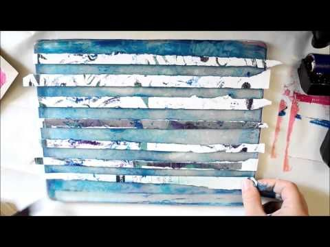 Using Regular Household Items With the Gelli Plate - by yellowmelle
